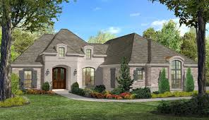 3 bed french split house plan 51714hz architectural designs