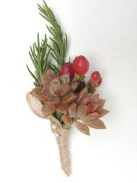 succulent boutonniere berries urban succulents
