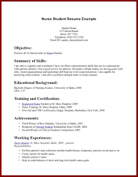 Sample College Student Resume No Work Experience by Resume Examples With No Work Experience Student