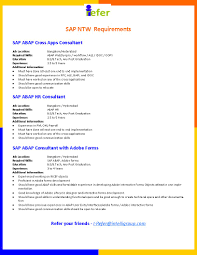Sap Fico Sample Resume 3 Years Experience Sap Abap 2 Years Experience Resume Free Resume Example And