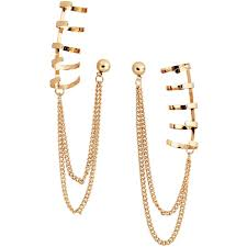 hm earrings h m earrings with ear cuffs 6 13 liked on polyvore featuring