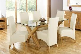 Dining Table And Six Chairs Glass Top Dining Table Price Flattering And Modern Glass Top