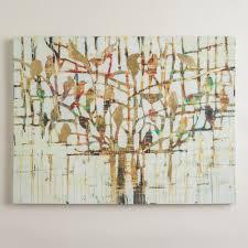 Powder Room Art Gold Trees