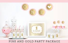 baby girl 1st birthday baby girl birthday decorations pink and gold glitter