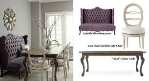 Dining Room Banquette Furniture Wing Banquette Liday Dining Table Swedish Side Chair