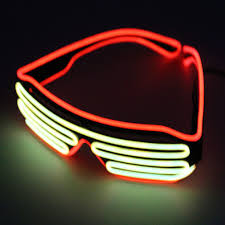 party sunglasses with lights double color glow led el glasses wire sunglasses light up shades