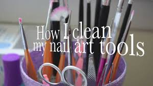 requested how i clean my nail art brushes u0026 tools youtube