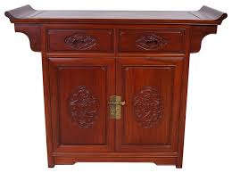 consigned vintage chinese rosewood altar cabinet sideboard asian