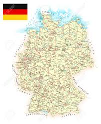 Water Country Map Germany Detailed Map Illustration Map Contains Topographic
