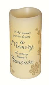 light a candle for someone amazon com 6 flameless vanilla scented memory pillar candle
