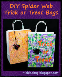 Halloween Candy Bags Craft by Tickled By The Creative Bug Easy Diy Spider Web Trick Or Treat Bags