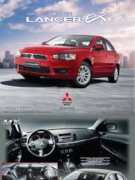 lancer ex glx gls u0026 mx brochure manual transmission steering