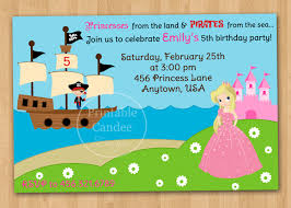 pirates and princesses party invitations free spiderman invitation
