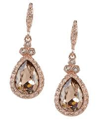pear drop earrings women s linear orbital drop earrings dillards