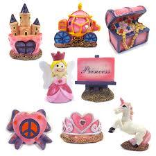 pink princess aquarium ornament fish tank kids gift box set