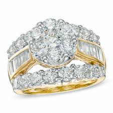 zales engagement rings 4 ct t w cluster engagement ring in 14k gold