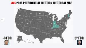 2016 Presidential Election Map by Nov 8th Electoral Map Livestream Youtube