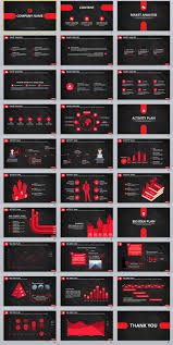 30 black business powerpoint template the highest quality