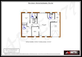 norme handicapé chambre plan maison handicape