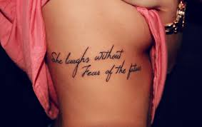 quote tattoo on side quote tattoos rib cage best quotes facts and memes