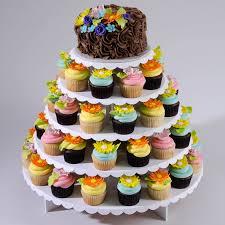 cupcake and cake stand clever design cupcake wedding cake stand sheriffjimonline