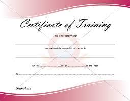 certificate free templates certificate of training certificate template pinterest