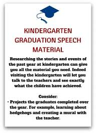 free kindergarten graduation speech
