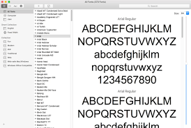 how to manage mac fonts using font book