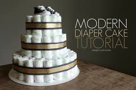 modern diaper cake tutorial simply real moms