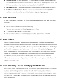 3030cbt location messaging unit user manual ii calamp