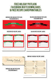 potluck lunch invitation cheap office christmas potluck free holiday potluck facebook invites u0026 recipe card printables u2013 a