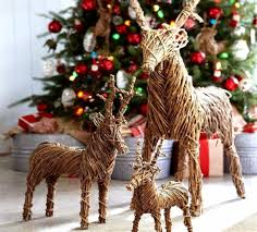 interior amazing rattan reindeers artwork for