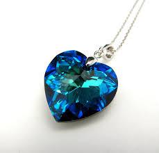 blue heart necklace images Swarovski bermuda blue heart crystal pendant necklace free jpg