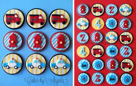 firefighter cupcake toppers amazing and fireman birthday party anders ruff custom