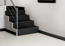 stair modern elegant home interior design with black vinyl stair