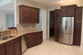 Kitchen Cabinets Making Furniture Stainless Steel Door Refreegerator Also Tile Flooring