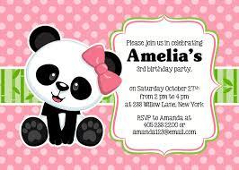 panda party invitation panda invitation panda party invite