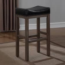 Leather Counter Stools Backless Lopez Backless Brown Leather Counter Stools 2 Pack Hayneedle