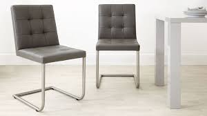 White Leather Dining Chairs Modern Various Real Leather Designer Dining Chair Grey White And Black Uk