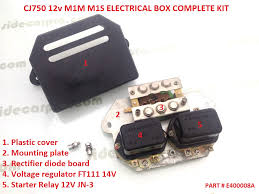 sidecar pro parts manual cj750 electrical accessories