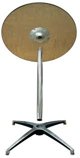 Aluminum Pedestal 42 U0027 U0027h Round Plywood Pedestal Table With Aluminum X Base 72012h