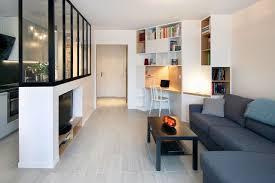 bureau bibliothèque intégré bibliothèque meuble multifonction côté maison