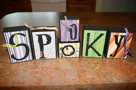 Decorative Letter Blocks For Home Halloween Blocks Diy Holiday Home Decor Blissfully Domestic
