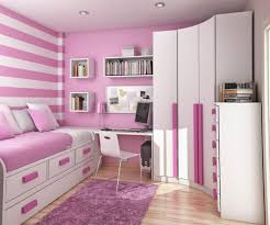 Bedroom Design For Girls Purple Cute Girls Bedroom Wall Paint Ideas Pink Study Table White Chair