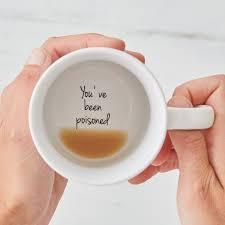 funny mugs bottom of the mug message secret message mug