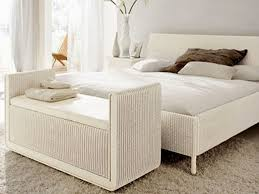 Modern King Size Bed Frame Modern White Rattan Wicker King Size Bed Frame Which Mixed With