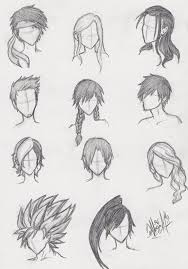 sketches of hair more anime hair practice by ajbluesox on deviantart