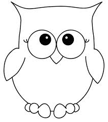 owl stencils coloring page free download