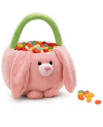 plush easter baskets russ pink bunny plush easter basket