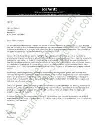 Resume For Educators Sample Cover Letter For